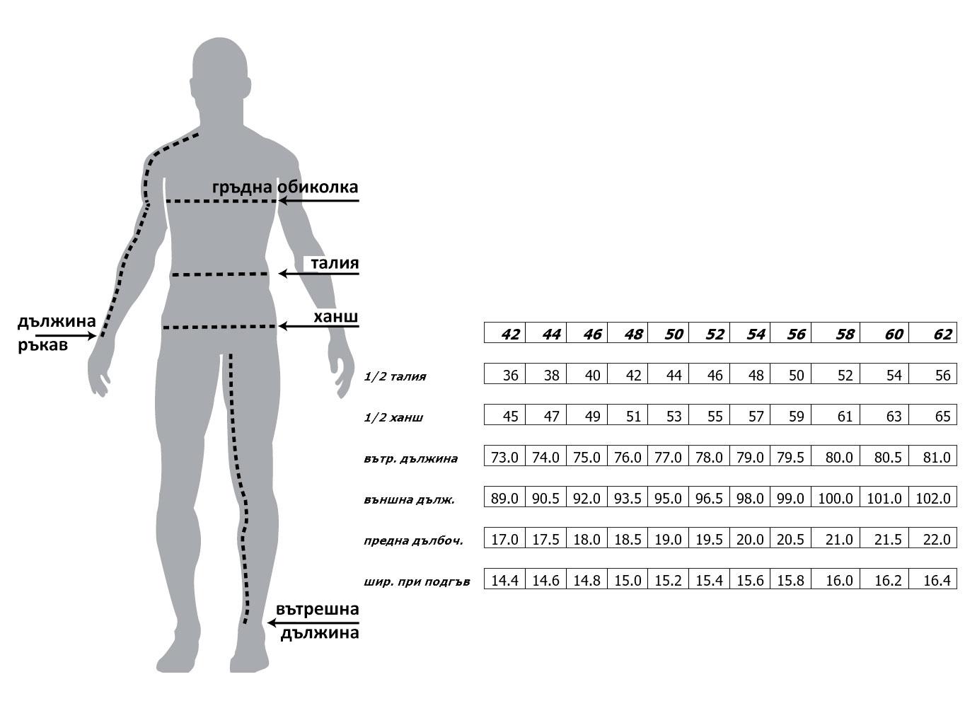 Мъжки панталон MONNI size-table MONNI