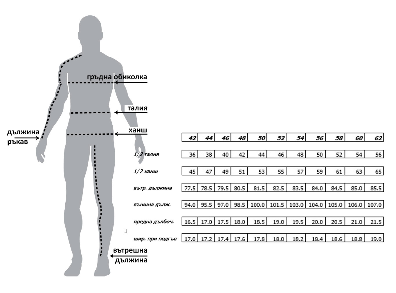 Панталон STIL size-table MONNI