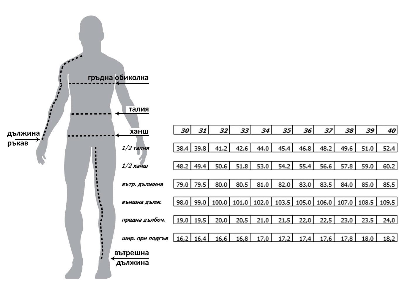 Мъжки вталени дънки черен цвят size-table MONNI