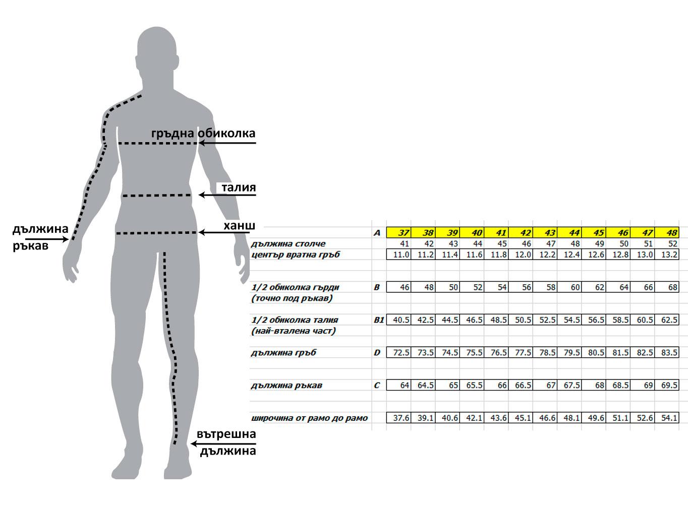 Елегантна мъжка риза в тъмносин цвят  size-table MONNI