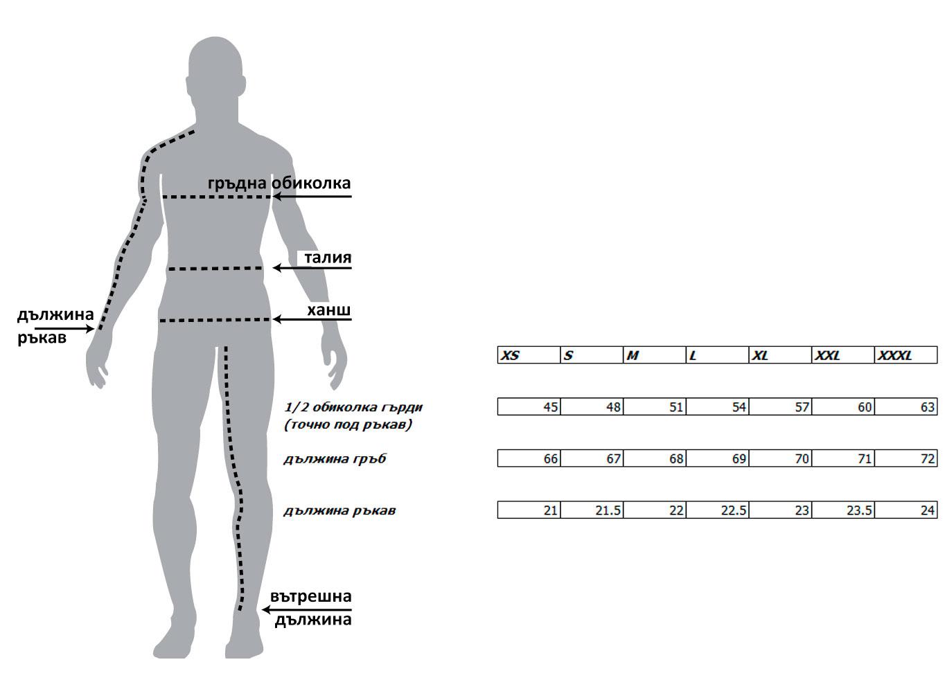 Мъжка тениска Glitch size-table MONNI